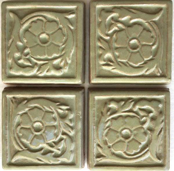 "Wildflower<br/>Art Tile<br/>4"" x 4"" (4 tiles)"