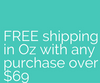 free shipping in australia with any purchase over $69