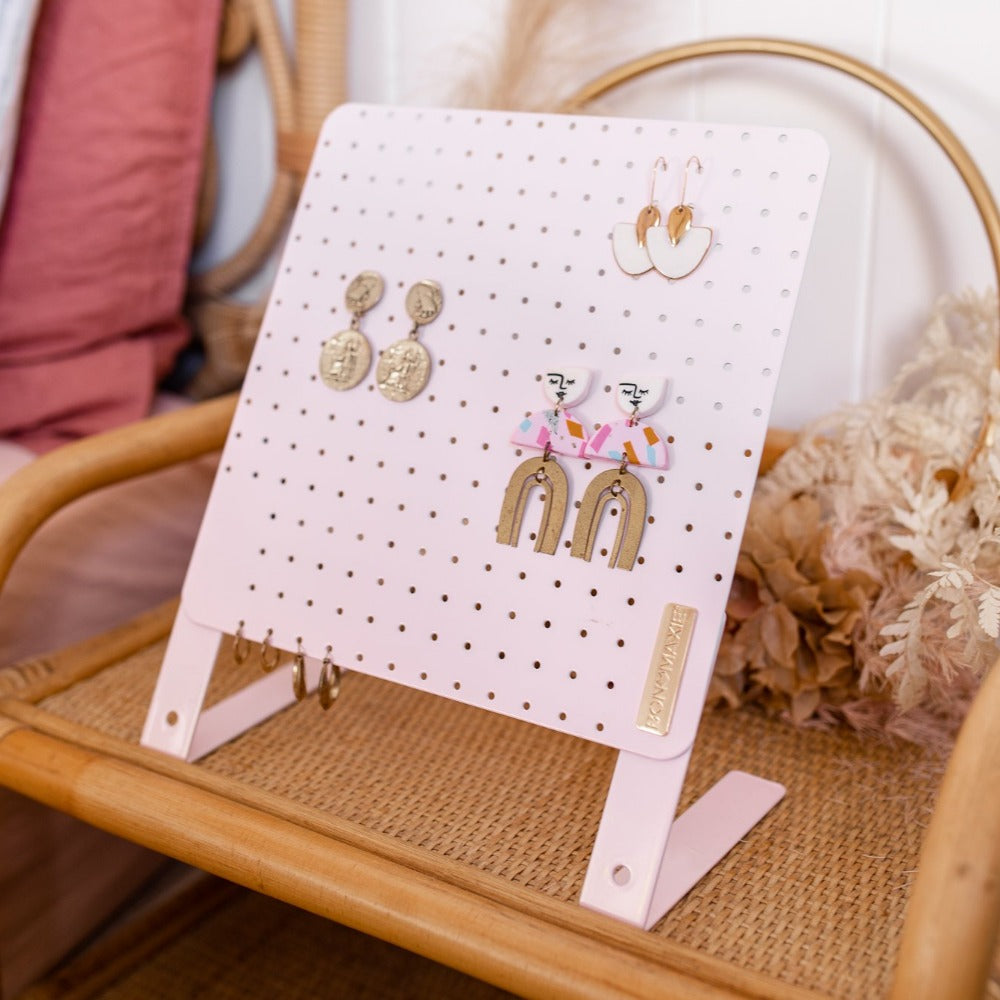 Height Adjustable Earring Holder - Blush