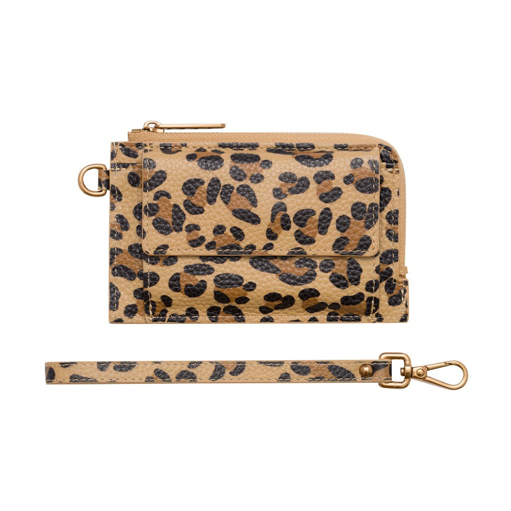 Mighty Mini Wallet 2.0 - Leopard/Antique Gold