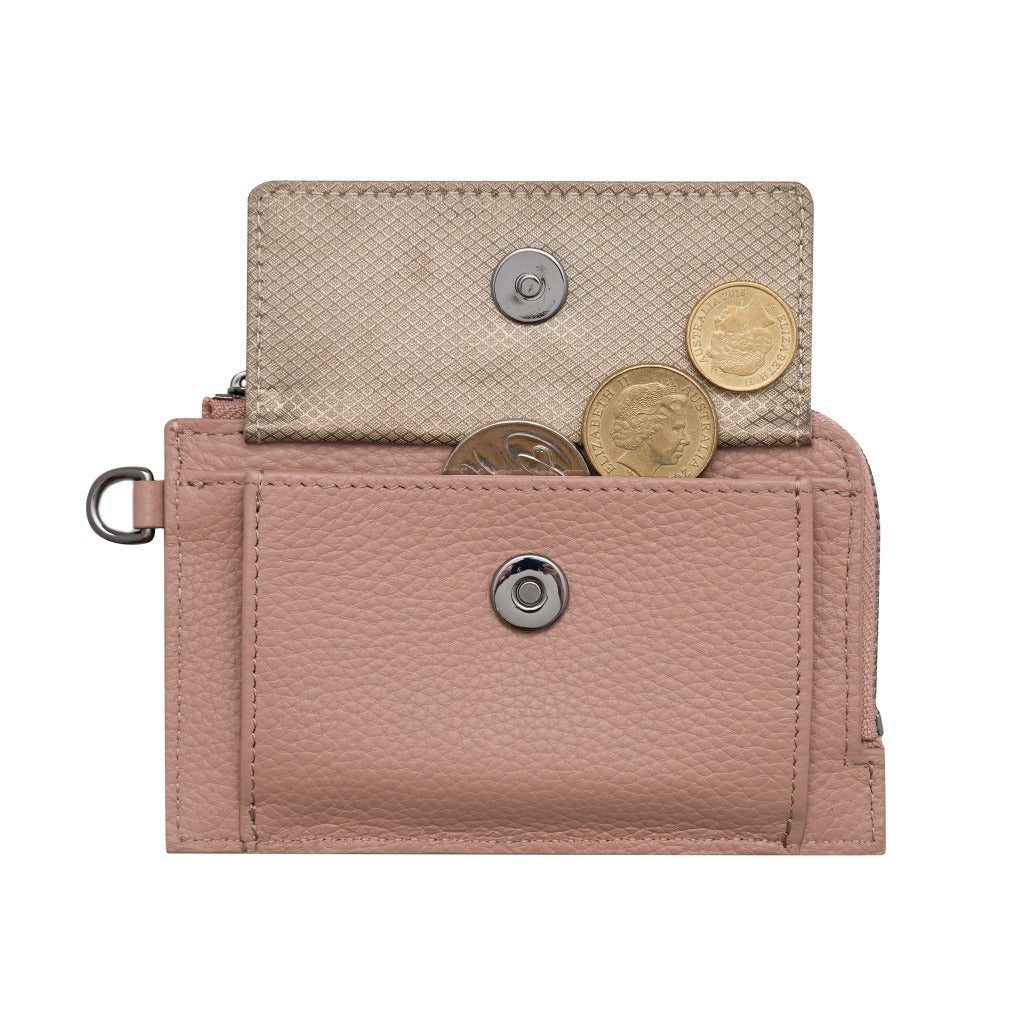 Mighty Mini Wallet 2.0 - Peach/Antique Gold