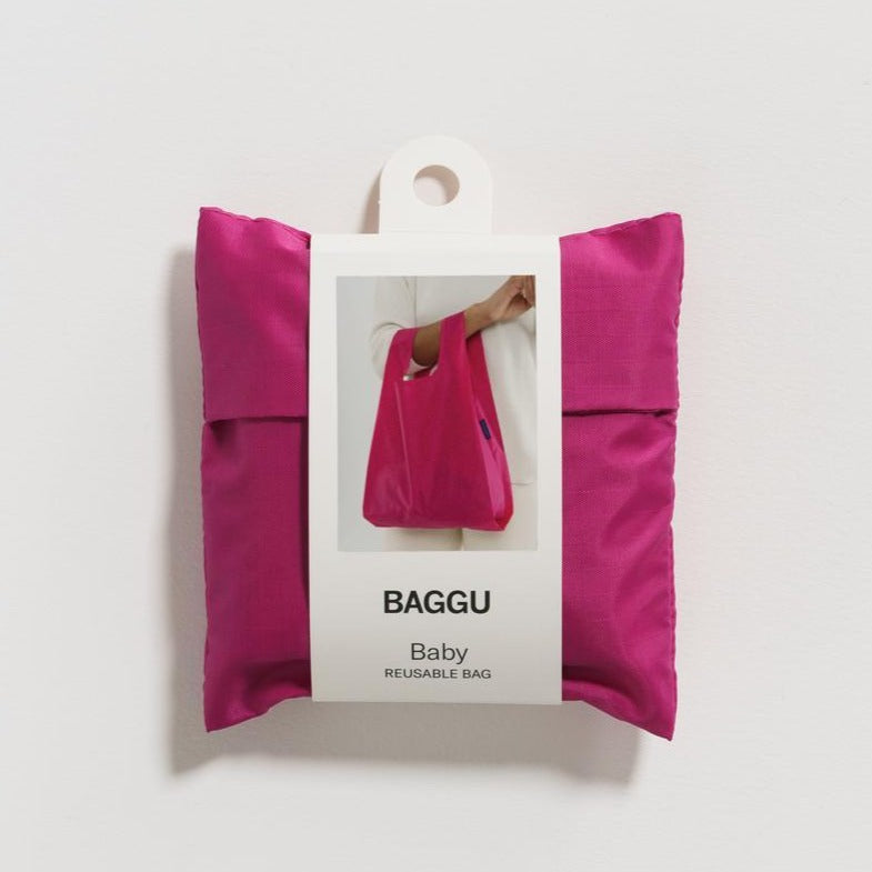 BAGGU REUSABLE SHOPPING BAG - MAGENTA (2 SIZES)