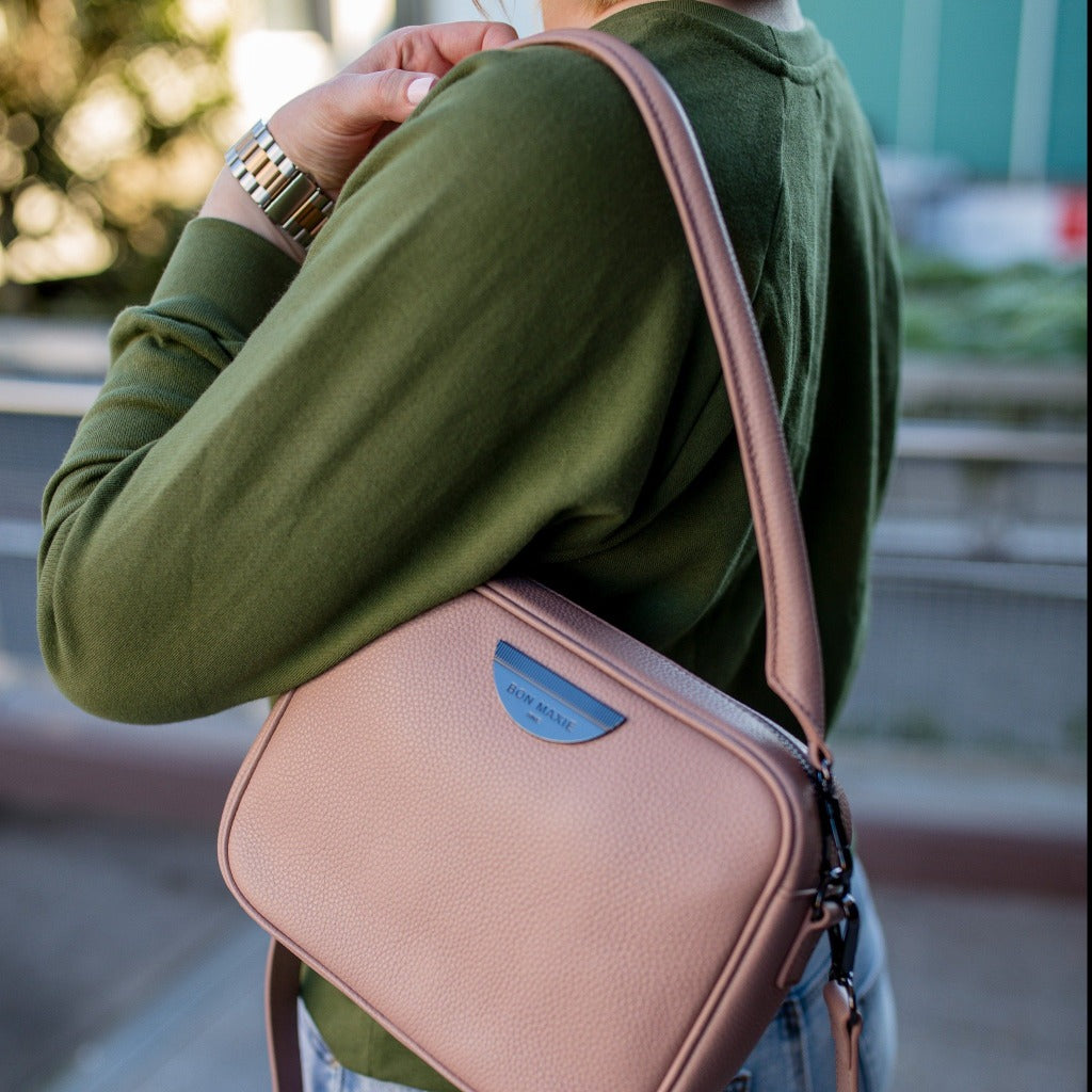 Sidekick Crossbody Bag - Milk Tea/Gunmetal
