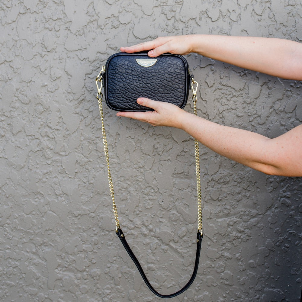 Mini Sidekick 4-in-1 Pouch Bag - Black/Light Gold