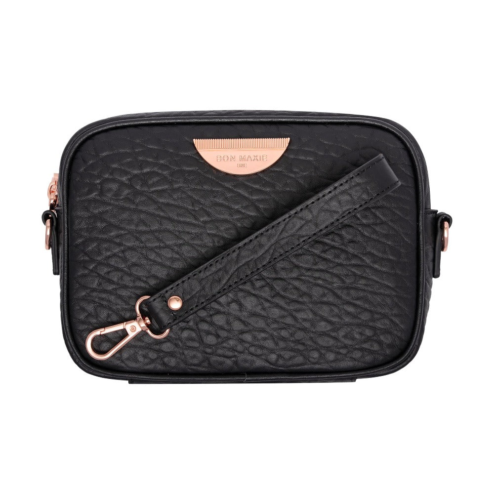 Mini Sidekick 4-in-1 Pouch Bag - Black/Rose Gold