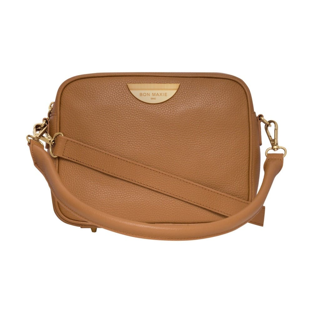 Sidekick Crossbody Bag - Tan/Light Gold