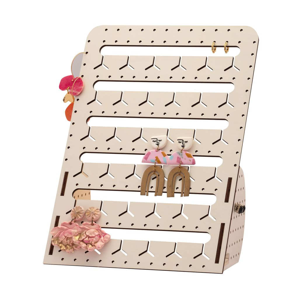 WHITE STANDING BUNNY-NOSE™ EARRING HOLDER - 2 SIZES