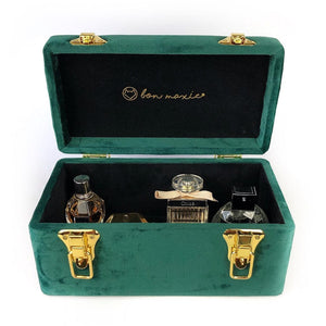 EMERALD GREEN VELVET PERFUME TRUNK