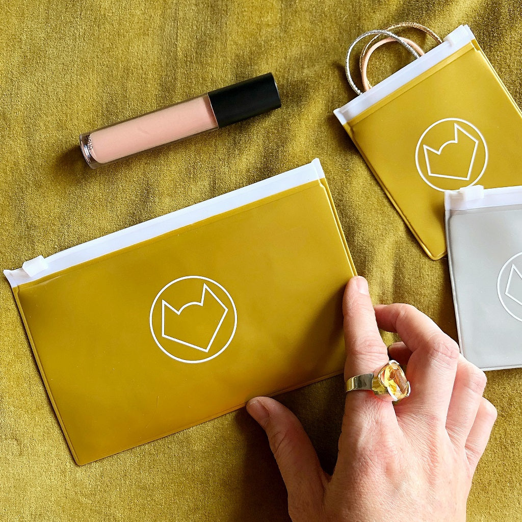 Handy Pouches - Gold Opaque (2 sizes)