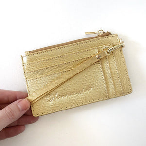 GOLD SAFFIANO MIGHTY MINI WALLET™