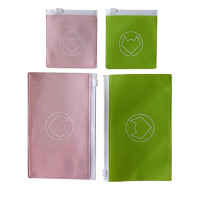 BLUSH + GREEN HALF CLEAR - HANDY POUCH VALUE PACK