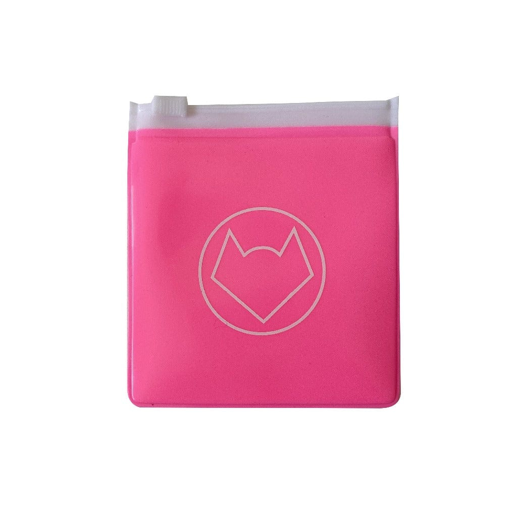 Handy Pouches - Hot Pink Half Clear (2 sizes)