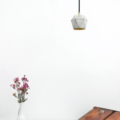 Diamond Pendant In Natural Concrete - Slab Homewares