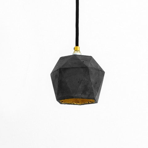 Diamond Pendant Dark Concrete - Slab Homewares