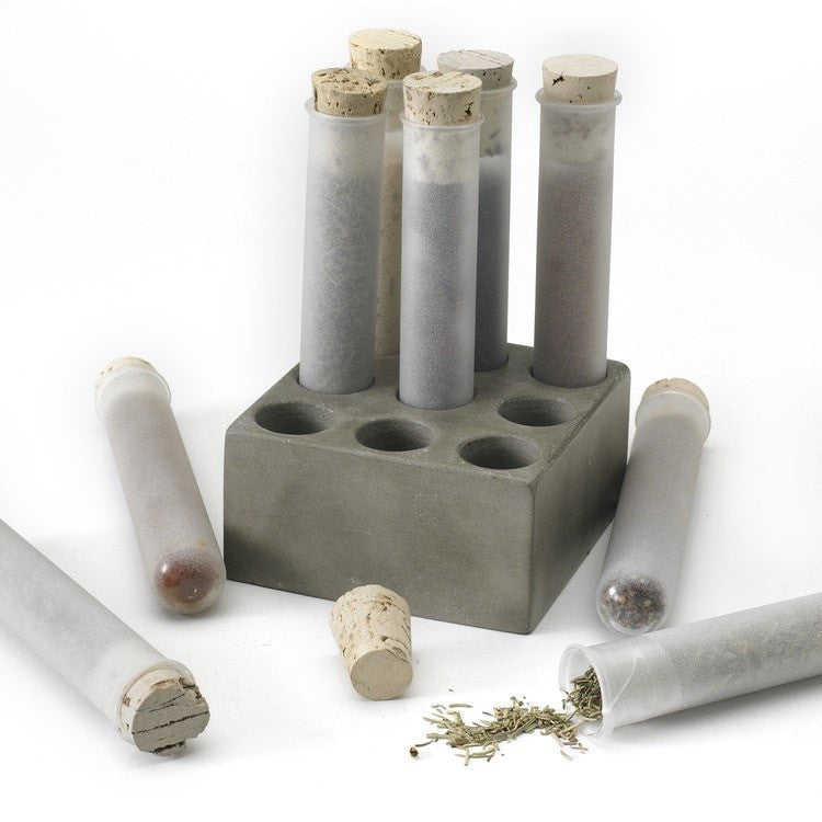 Spice Test Tube with Concrete Base - Set 9 - Slab Homewares