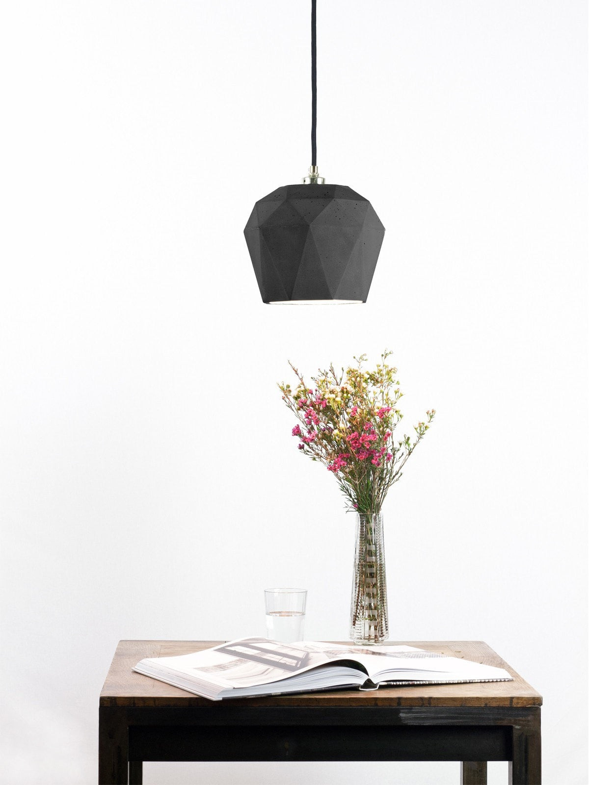 Big Diamond Pendant Dark Concrete - Slab Homewares