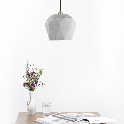Big Diamond Pendant Natural Concrete - Slab Homewares