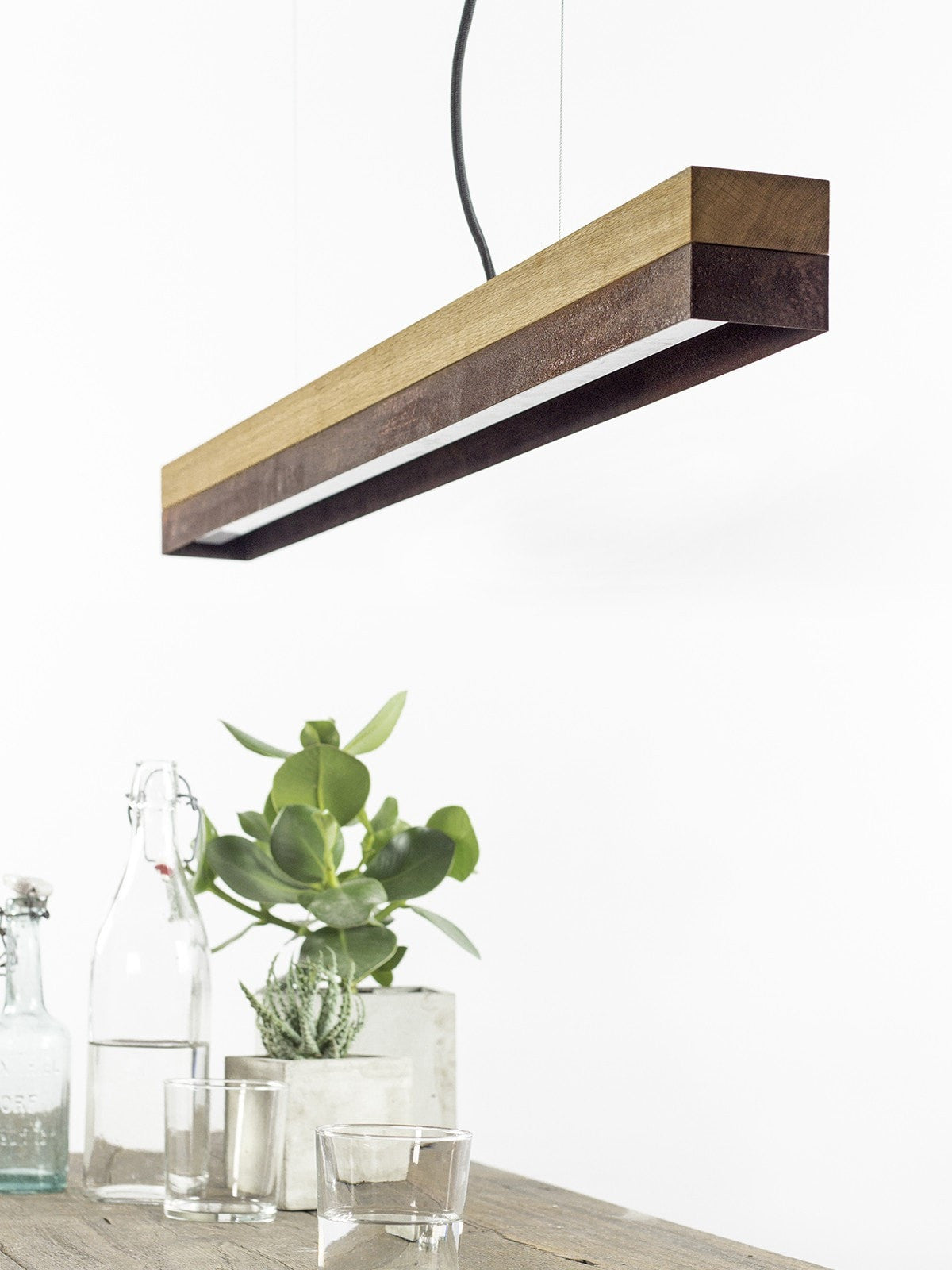 SLAB Oak & Corten Pendant - Slab Homewares