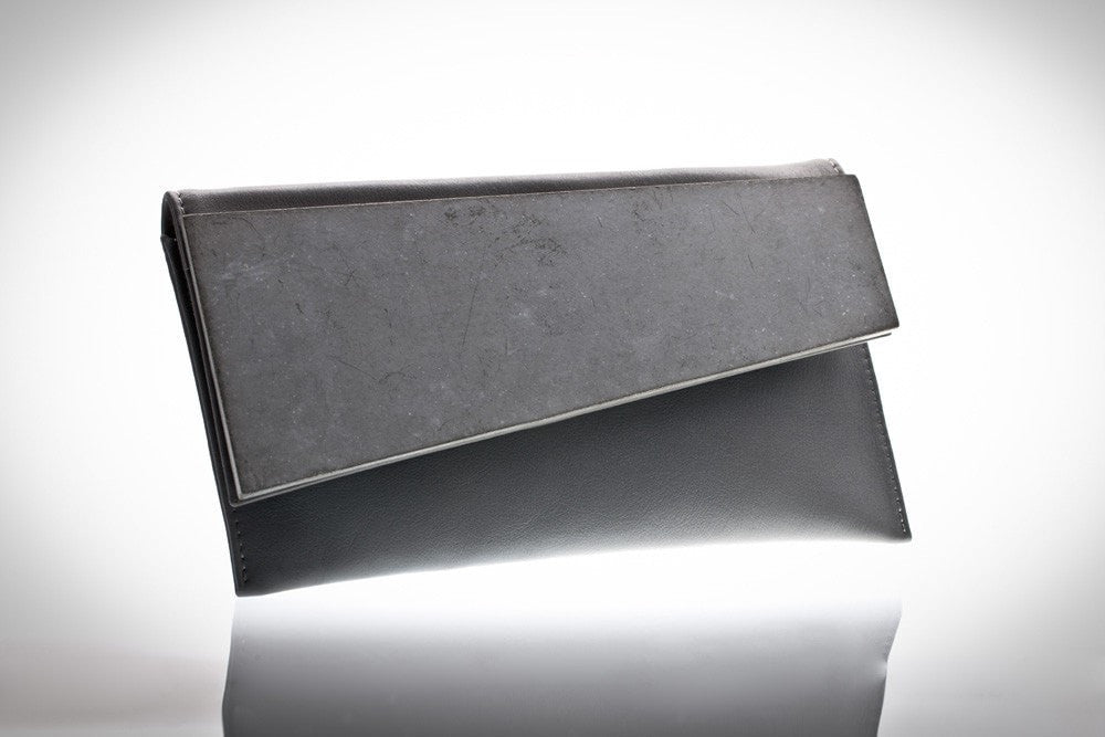 CONCRETE LEATHER CLUTCH - Slab Homewares
