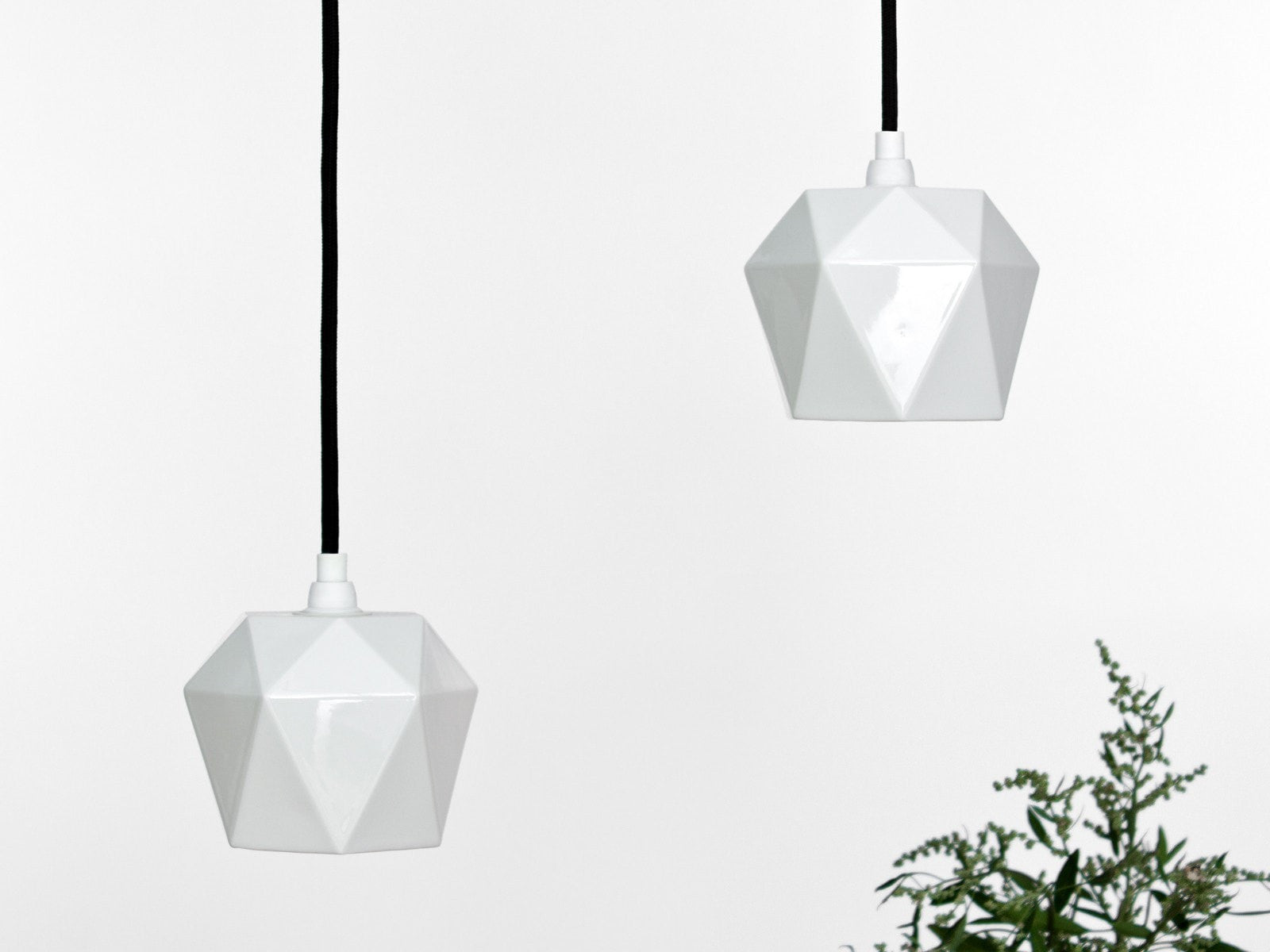 Diamond Pendant White Porcelain - Slab Homewares