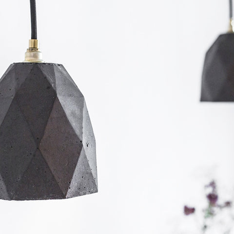 Honeycomb Pendant Dark Concrete - Slab Homewares