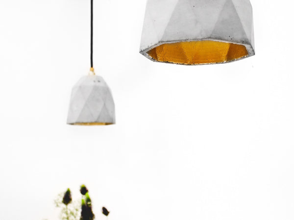 Honeycomb Pendant Natural Concrete - Slab Homewares
