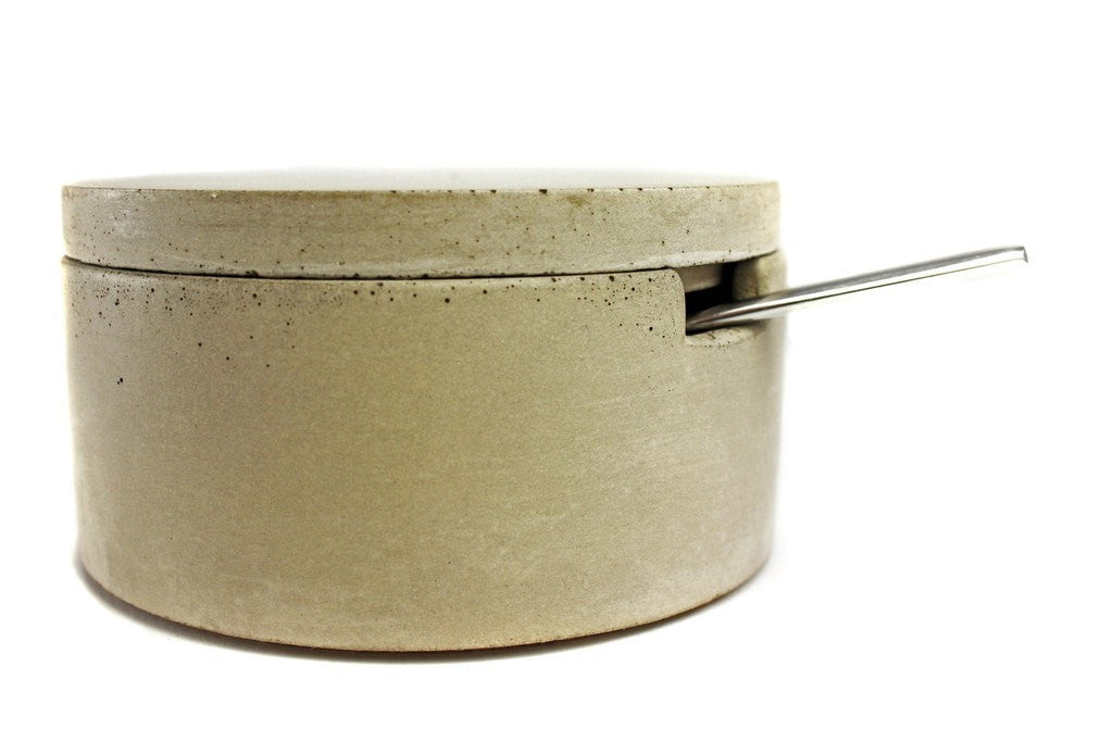 Concrete Spice Dish with Spoon - Slab Homewares