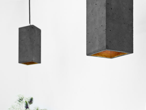 Long Boxo Pendant Dark Concrete - Slab Homewares