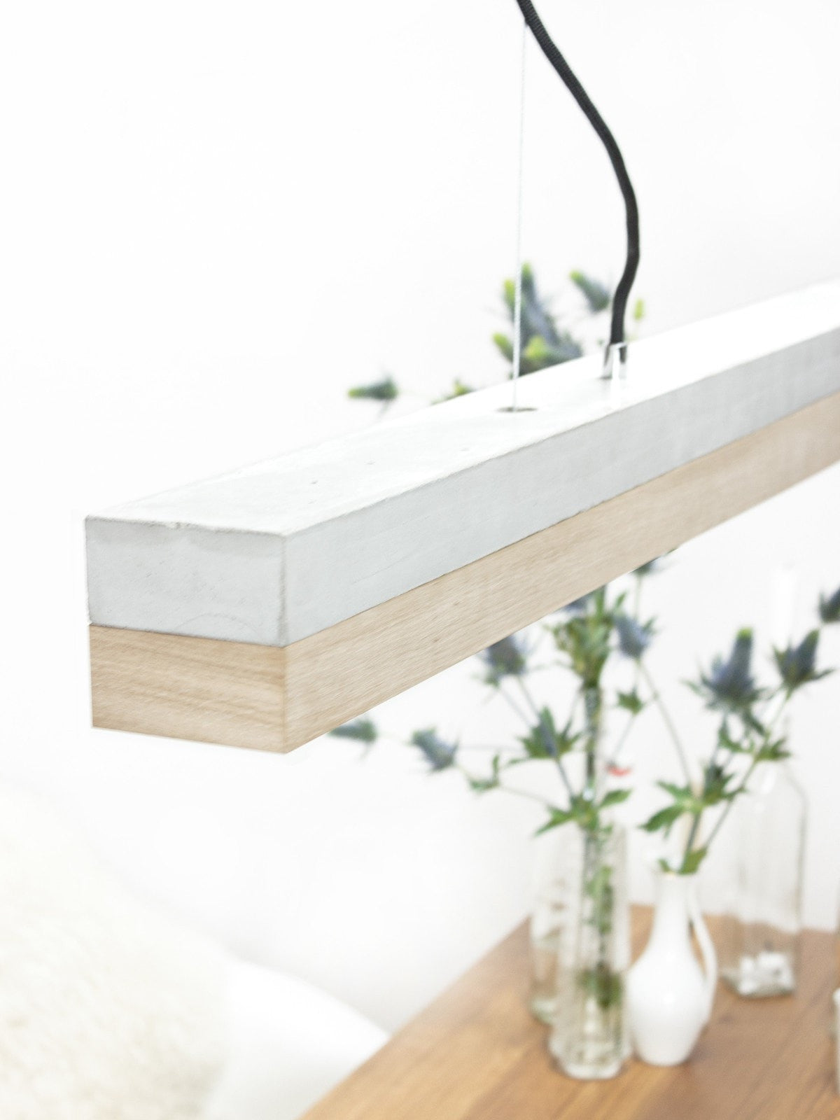 SLAB Oak & Concrete Pendant - Slab Homewares