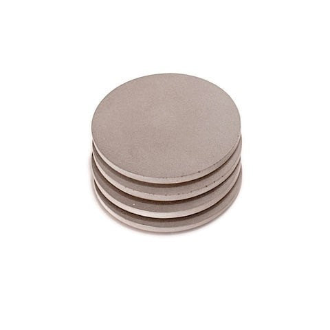 Refined Round Concrete Coaster set of 4 - Slab Homewares