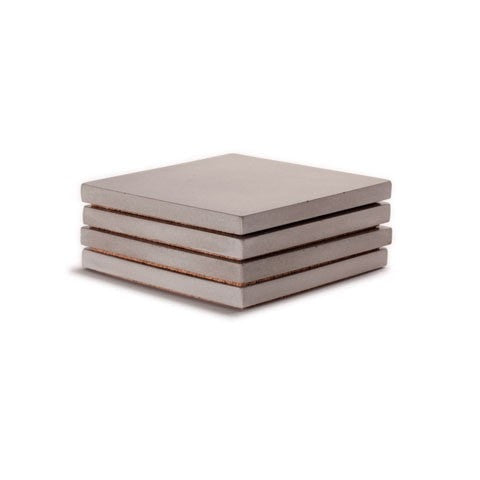 Refined Square Concrete Coaster set of 4 - Slab Homewares
