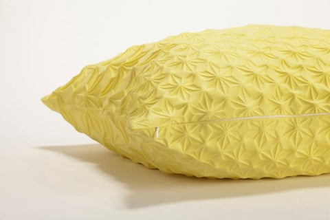 Amit pillow, Yellow geometric pillow cover 60x60 cm