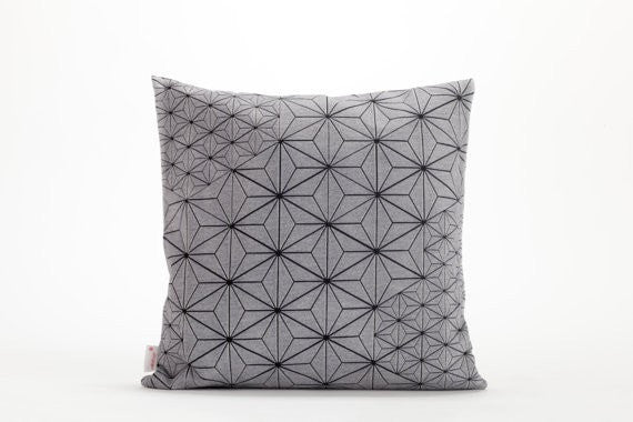 "Tamara Pillow, White & Black designer throw pillow cover 40x40 cm, 15.7x15.7""."