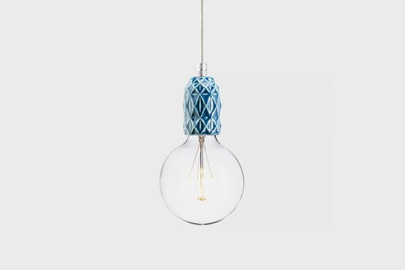 Ceramic lamp | Keramik Air Indigo - Slab Homewares
