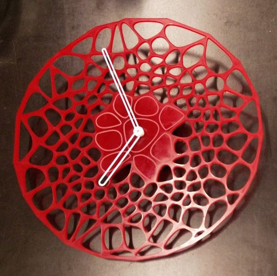 Red Plexiglass Clock