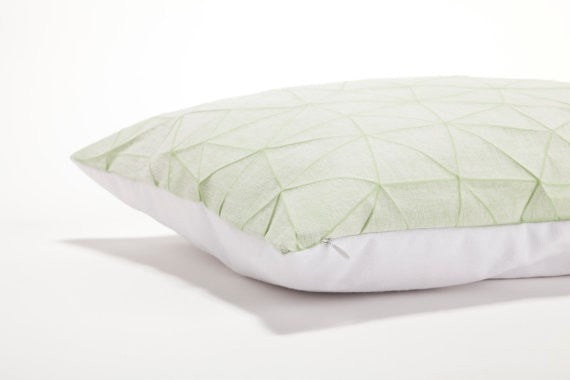 Irad pillow, White and Light Green  55x40cm