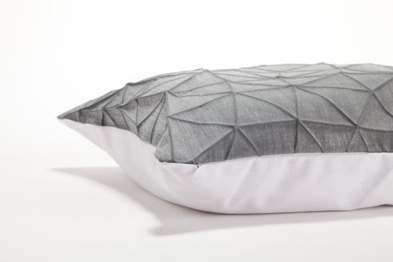 Irad pillow, White and Dark Grey 55x40 cm