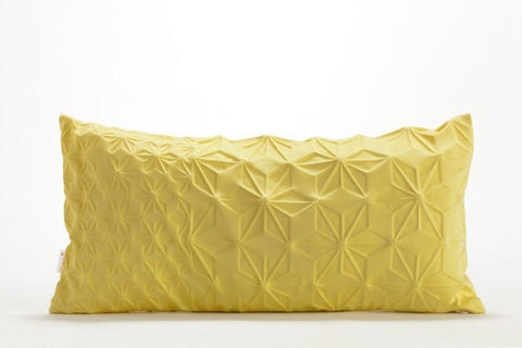 Amit pillow, Yellow geometric pillow cover 30x60 cm