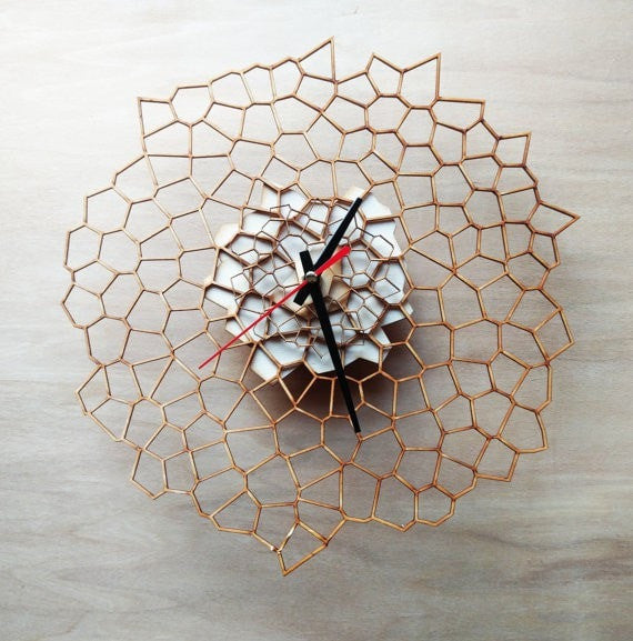 Voronoi Wall Clock