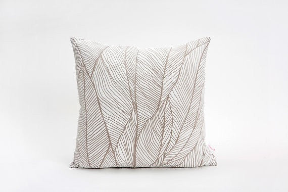 Pinion Pillow, Beige designer throw pillow cover 45x45 cm / 17.7x17.7 inch
