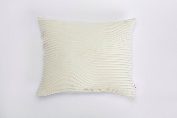 Storm pillow, Cream textured pillow cover,50x45 cm