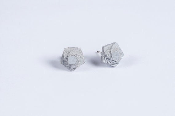 Micro Concrete Earrings #5