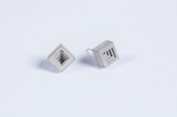Micro Concrete Earrings #6