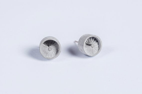 Micro Concrete Earrings #4