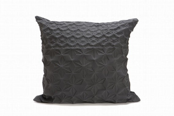 Amit pillow, Grey pillow cover, 60x60