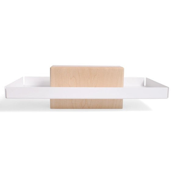 Talbot | Maple & White - Pedestal Tray, Catchall, Dish - Slab Homewares