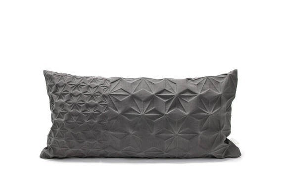 Amit pillow, Grey pillow cover, 30x60
