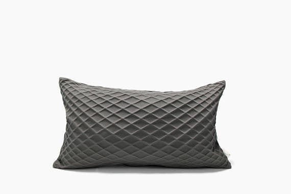 Rotem, Grey pillow cover, 50x30