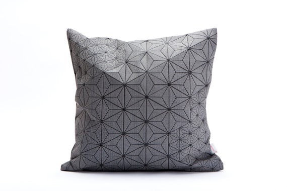 Tamara pillow, Grey and Black 40x40