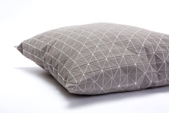 Geo pillow, Light Grey 50x50cm.